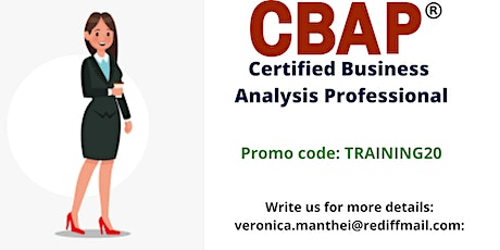 CBAP Certification Training in Fargo, ND tickets