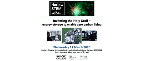 Inventing the Holy Grail - energy storage to enable zero carbon living  tickets