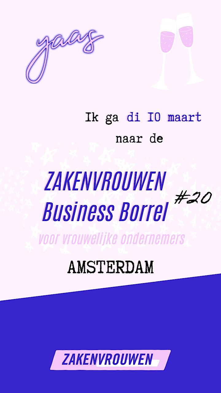 Afbeelding van Zakenvrouwen Business Borrel #20 voor vrouwelijke ondernemers [Amsterdam]