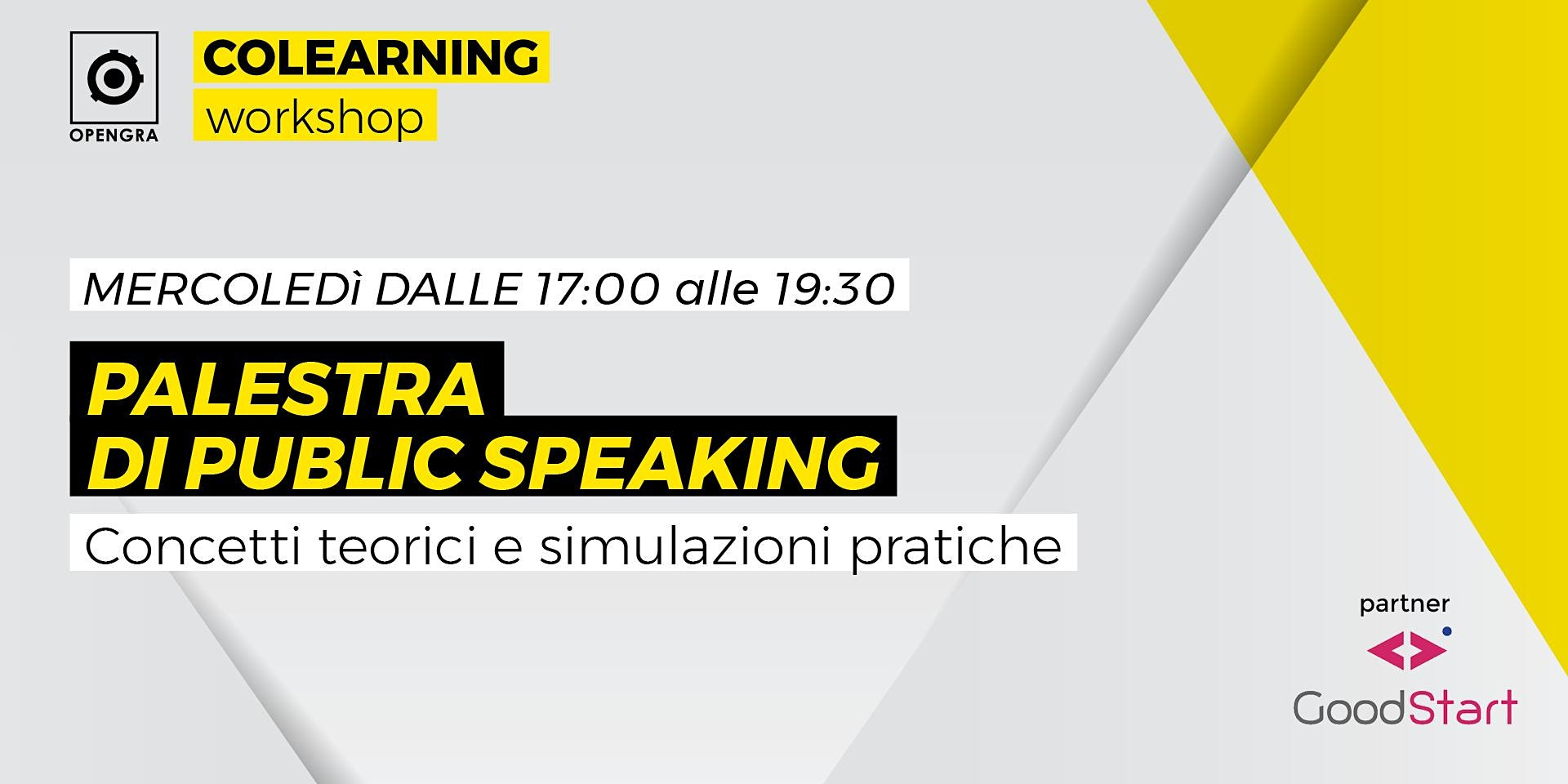 Palestra di public speaking