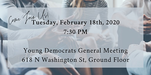 February 2020 General Meeting of the Alexandria Young Democrats