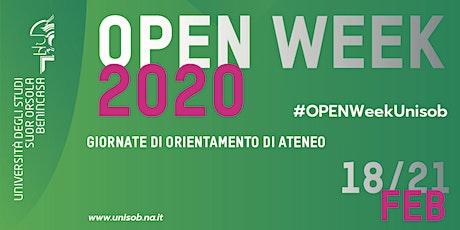 Open Week 2020 - Giornate di Orientamento di Ateneo biglietti