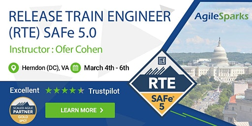 {Guaranteed to Run} SAFe 5.0 Release Train Engineer with RTE Certification - Herndon - March 2020