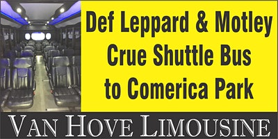 Def Leppard Shuttle Bus to Comerica Park from Hamlin Pub 25 Mile & Van Dyke