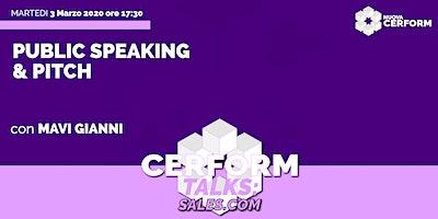 #CerformTalks - Public Speaking & Pitch