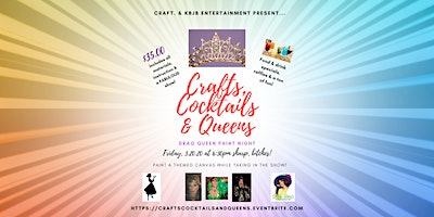 Crafts, Cocktails & Queens! Drag Queen Paint Night