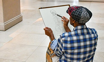 Sketching in the Galleries on UpClose Wednesdays