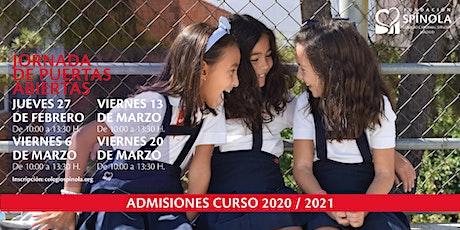 Jornadas de puertas abiertas Colegio Cardenal Spínola entradas