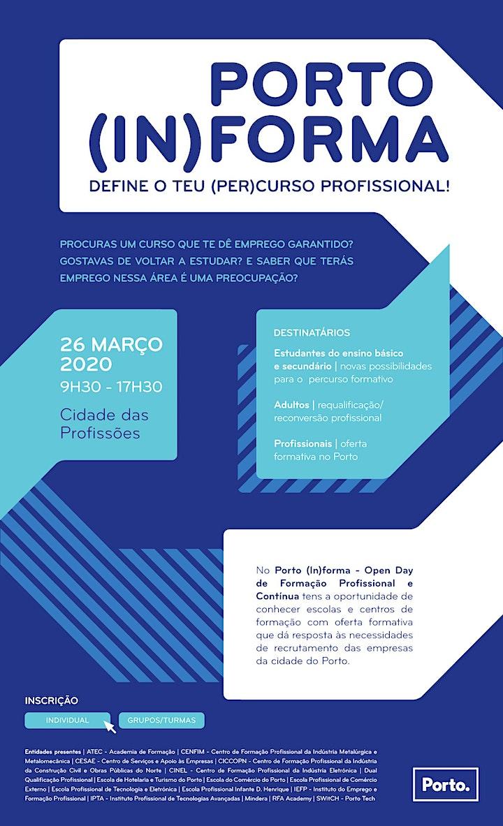 imagem 2ª ed. Porto (In)forma - Open Day de Formação Profissional e Contínua