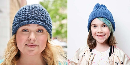 2020 Learn to Hand Knit a Blue Hat