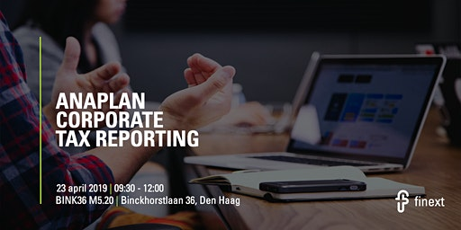 Anaplan Corporate Tax Reporting 2020