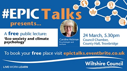 #EPIC Talks presents 'Eco-anxiety & climate psychology' by Caroline Hickman tickets