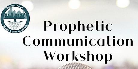 Prophetic Communication Workshop (Public Speaking) with Br. Omar Usman tickets