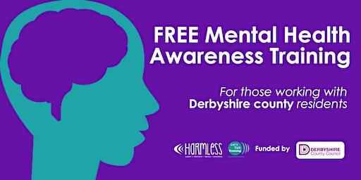 FREE Derbyshire County Mental Health Awareness Training (North East Derbyshire)