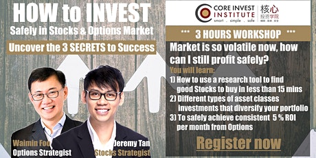 How to invest profitably in stocks (Online Webinar) Singapore tickets