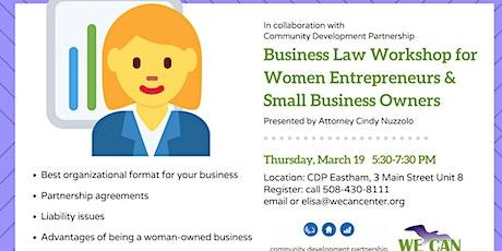 Business Law Workshop for Women Entrepreneurs tickets