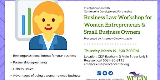 Business Law Workshop for Women Entrepreneurs