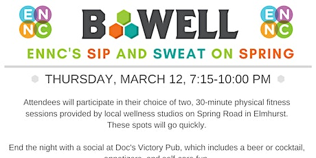 Sweat and Sip on Spring Road: ENNC's Fitness Crawl tickets