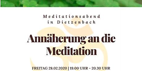 Annäherung an die Meditation Tickets