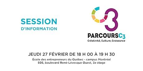 Session d'information : Parcours C3 tickets