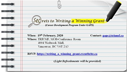 Secrets to Writing a Winning Grant tickets