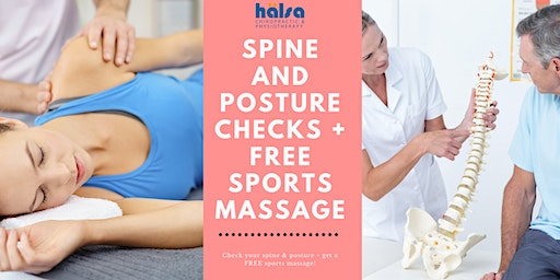 Spine & Posture Check + FREE Sports Massage