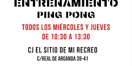 Entrenamientos de ping-pong entradas