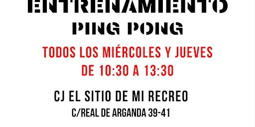 Entrenamientos de ping-pong