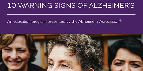 10 Warning Signs of Alzheimer's tickets