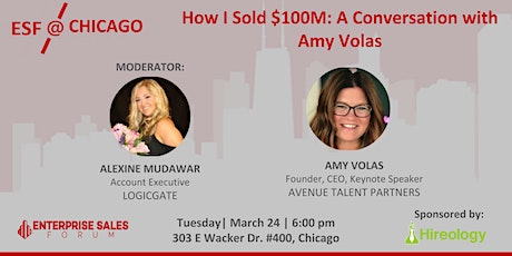 How I Sold $100M: A Conversation with Amy Volas tickets