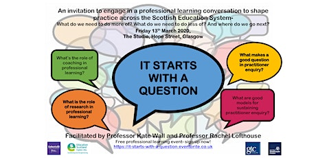 It Starts with a Question: A national professional learning conversation tickets