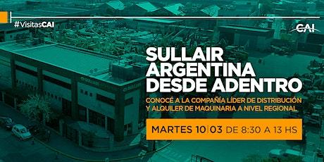 Visita Sullair Argentina desde adentro. entradas