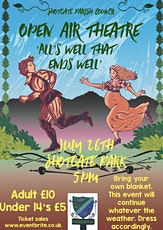 Revised date for Shotgate Open Air Theatre tickets
