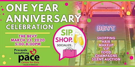 Sip Shop Socialize One Year Anniversary Celebration benefiting PACE tickets