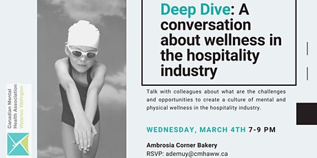 """Diving Deep"" - a conversation about wellness in the hospitality industry tickets"