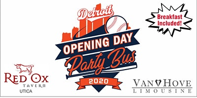 2020 Detroit Tigers Opening Day Party Bus From Red Ox Tavern Utica