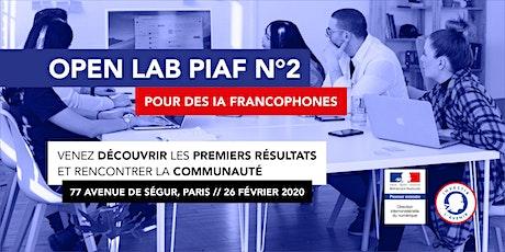 OpenLab PIAF n°2: découvrez nos premiers résultats et contribuez au projet! tickets