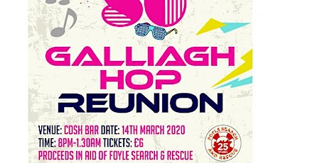 Galliagh hop reunion night, DJ Poodle and Guests for one night only. tickets