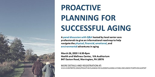 Proactive Planning for Successful Aging: a Panel Discussion