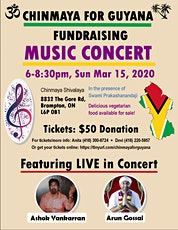 Chinmaya For Guyana - Music Fundraising Concert tickets