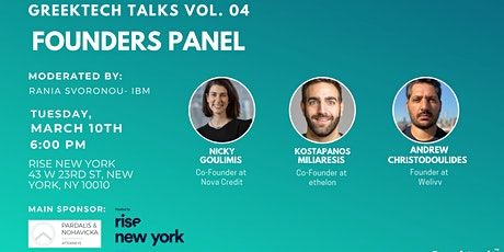 GreekTech Talks #04 Founder Panel - Rise New York tickets