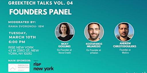 GreekTech Talks #04 Founder Panel - Rise New York