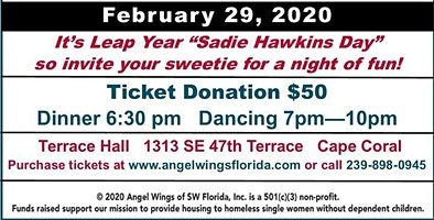 Angel Wings of Southwest Florida Leap Year Dance and Fundraiser