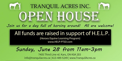 Tranquil Acres Farm OPEN HOUSE