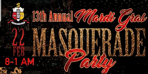 13th Annual Mardi Gras Masquerade Party