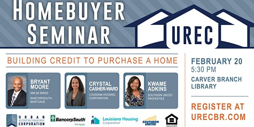 Homebuyer Seminar: Building Credit to Purchase a New Home