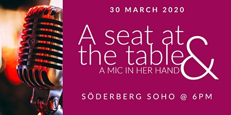 A seat at the table & a mic in her hand tickets