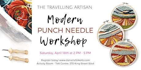 Modern Punch Needle Workshop - postponed tickets