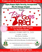 Pink Goes Red 2020 - Alpha Kappa Alpha Sorority Inc. Rho Psi Omega Chapter