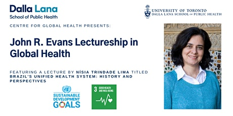John R. Evans Lectureship in Global Health with Nísia Trindade Lima tickets